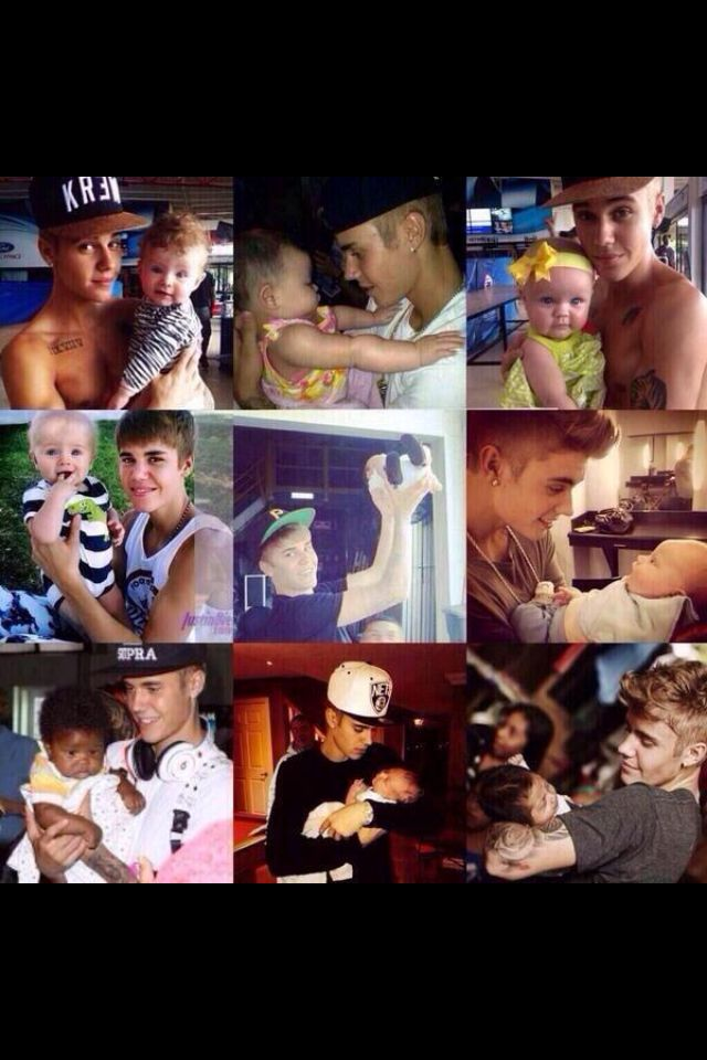 When he's holding babies>>>