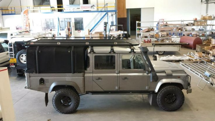 """#Landrover #Defender 130"""" With a nice roof rack."""