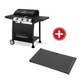 Barbecue Gaz Illinois 3 Feux Et Plancha - Oogarden