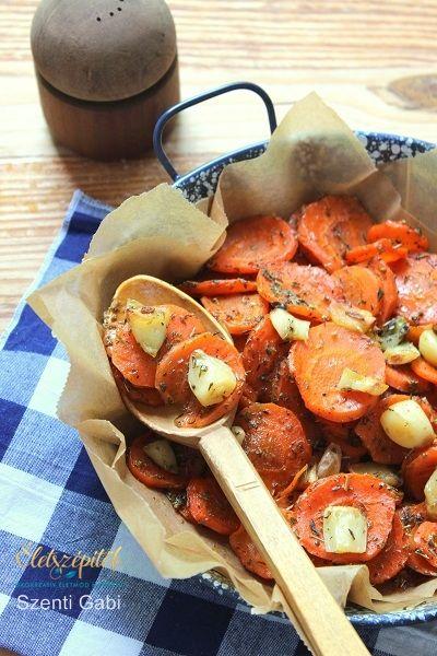 Mézes-fűszeres sárgarépa fokhagymával | Életszépítők
