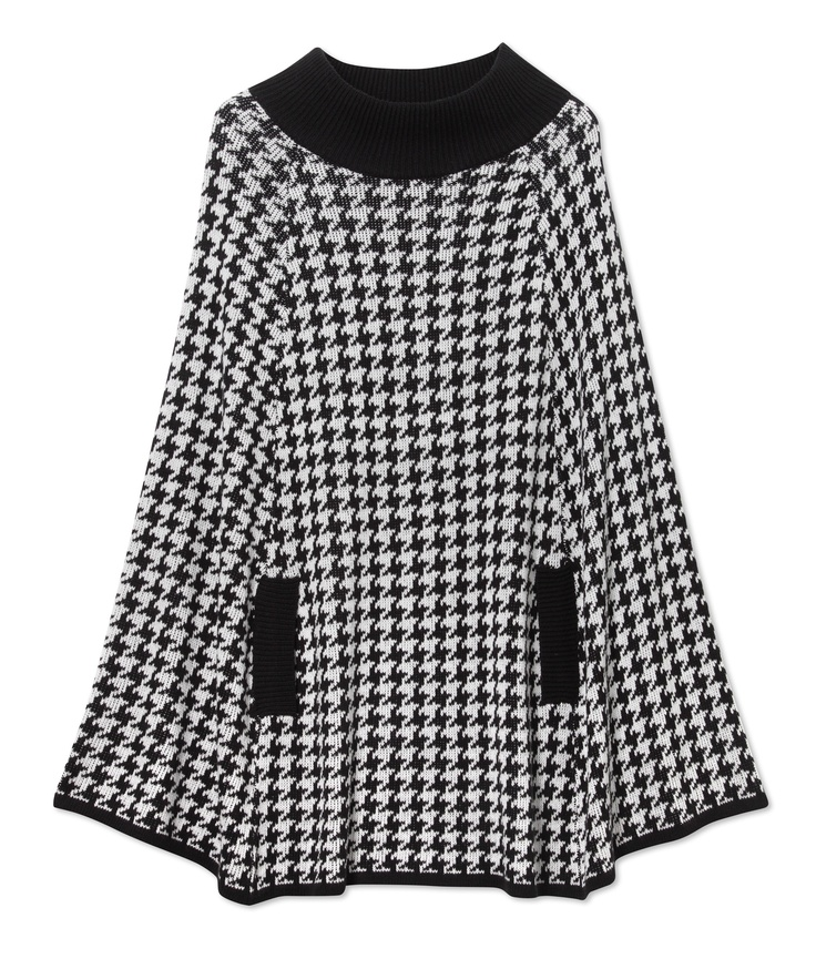 Mix Apparel - Houndstooth poncho