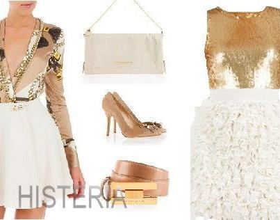 New arrivals! Be fabulous: white & gold!