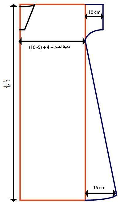 تفصيل وخياطة ثوب نوم رجالي دشداشه بيتيه اكاديمية بنت مفيد لتعليم الخياطة وتصميم الازياء والمهارات Pattern Chart Line Chart