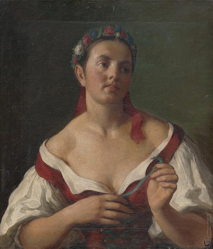Herman Kern: A girl from Podtureň / Dievča z Podtúrne:1860