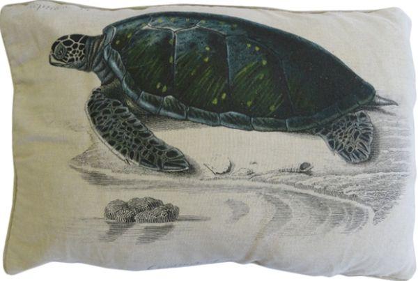 Sea Turtle Pillow: Beach Decor, Coastal Home Decor, Nautical Decor, Tropical Island Decor & Beach Cottage Furnishings