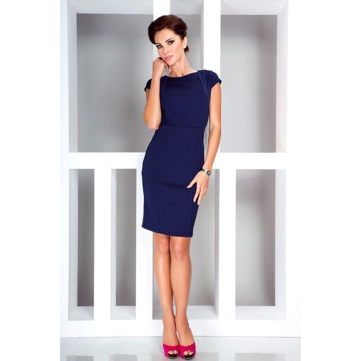 Rochie eleganta albastra numoco #rochiioffice #officestyle