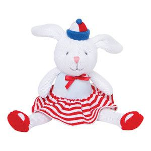 Small nautical sailor knitted bunny rabbit toy