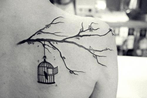 Open Bird Cage Tattoo Bird Cage Tattoo would...