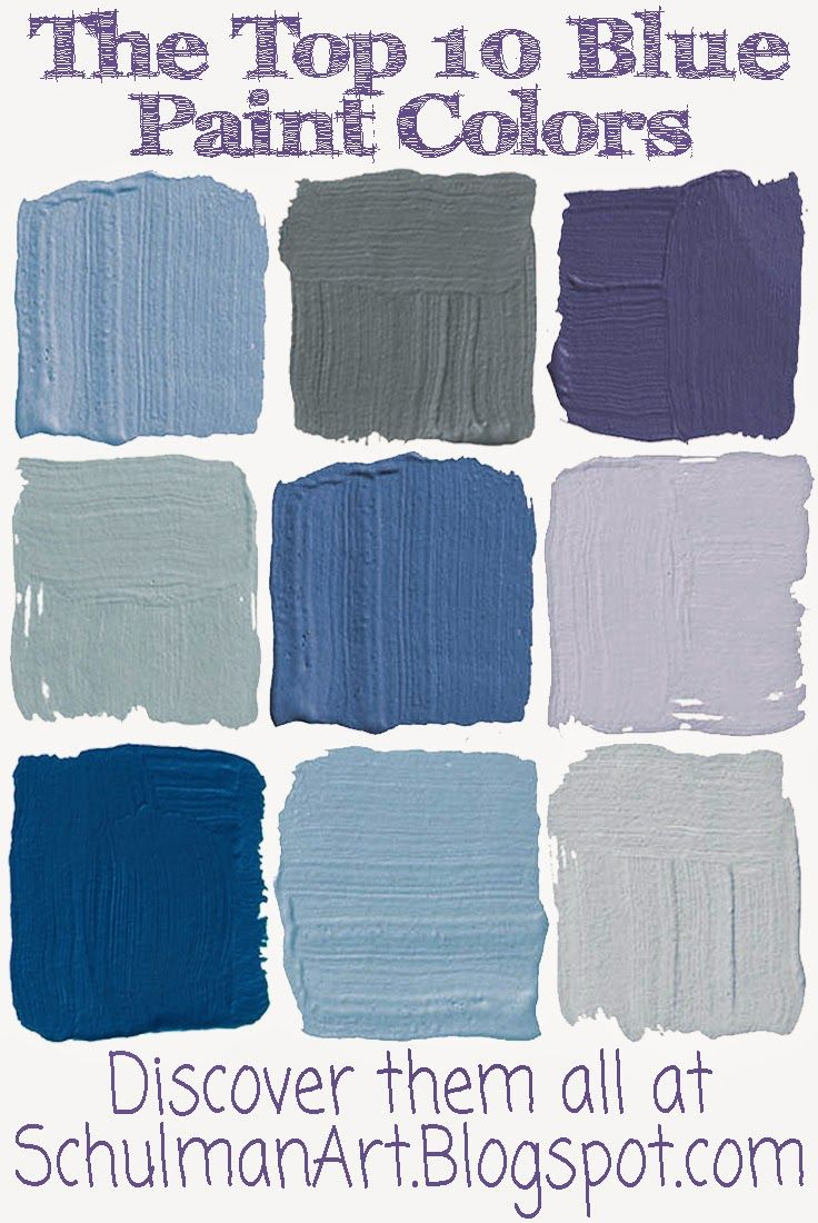 blue paint colors | different shades of blue | shades of blue discover them all on http://schulmanart.blogspot.com/2014/07/10-best-blue-pain...