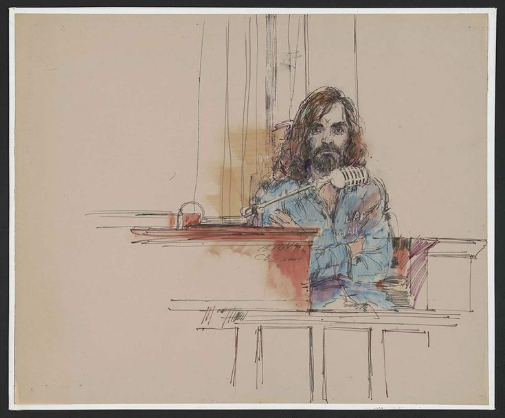 10+ Rare Courtroom Sketches From Most Infamous Trials Where No Cameras Were Allowed