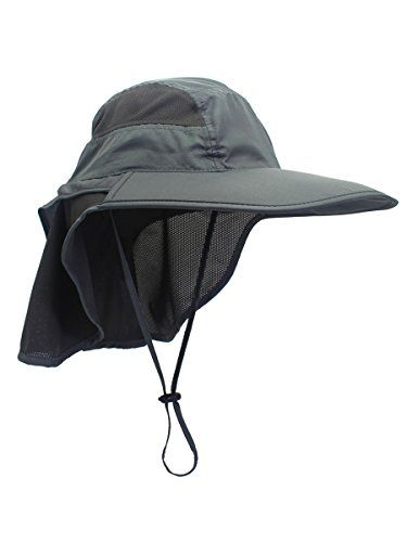 c0c0d6aeff3a1 Unisex Outdoor Activities UV Protecting Sun Hats with Neck Flap 12cm Large  Brim