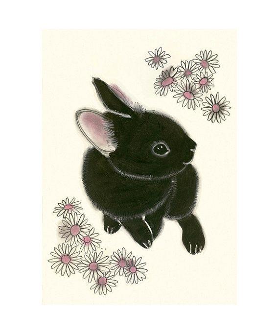 Little Black Bun with daisies.