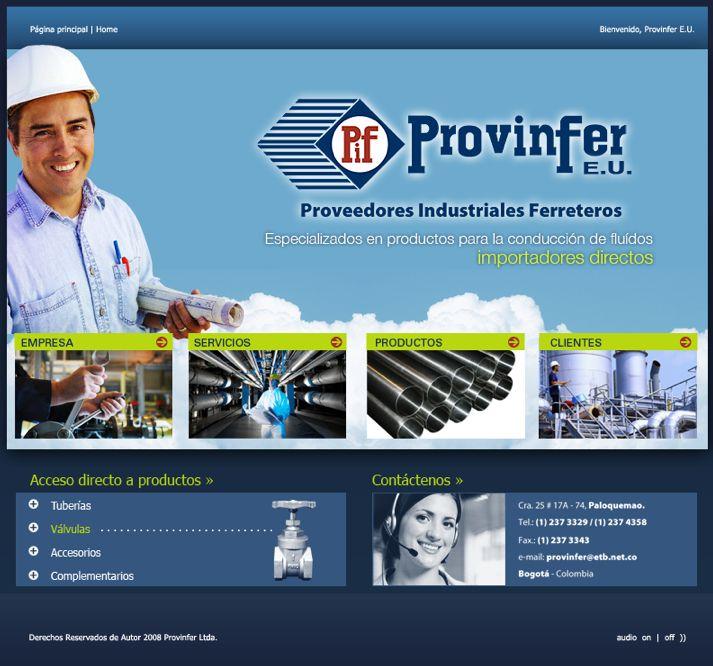 Sitio web para PROVINFER - Año ©2007