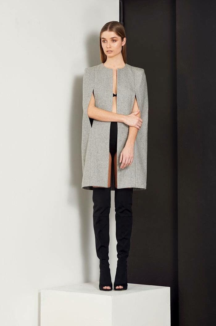 Bless'ed Are The Meek - Freedom Cape - Grey