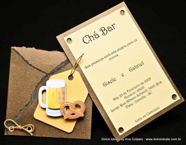 Convite de Chá Bar - Tema Festa de Botequim