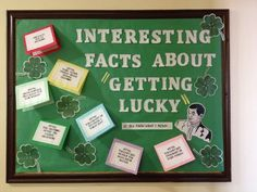 Resident Assistant bulletin board on how to use your luck during the St. Pattys day season. Bethany College, West Virginia via Amber Ridings Senior RA 2014