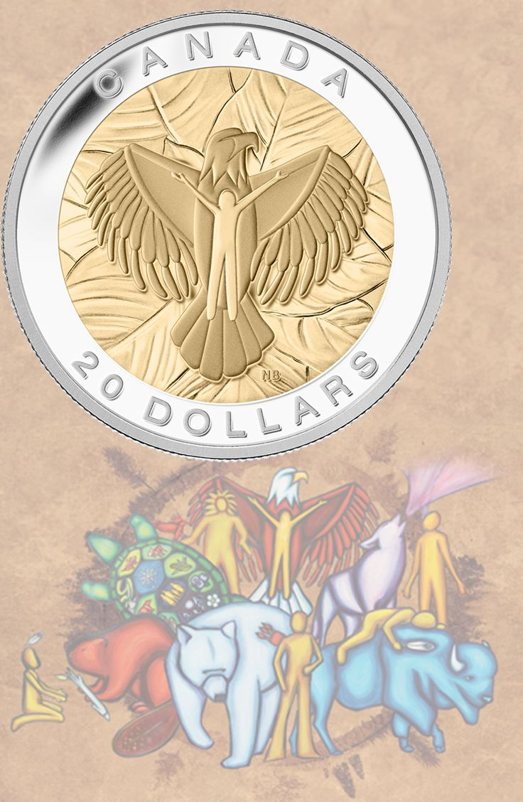2014 $20 Fine Silver Coin - Love:Eagle Love is one of the Seven Sacred Teachings for a full and happy life