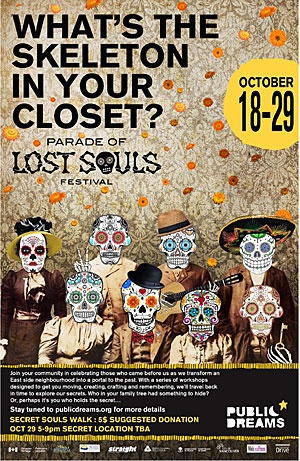 Go to the Parade of Lost Souls in October!