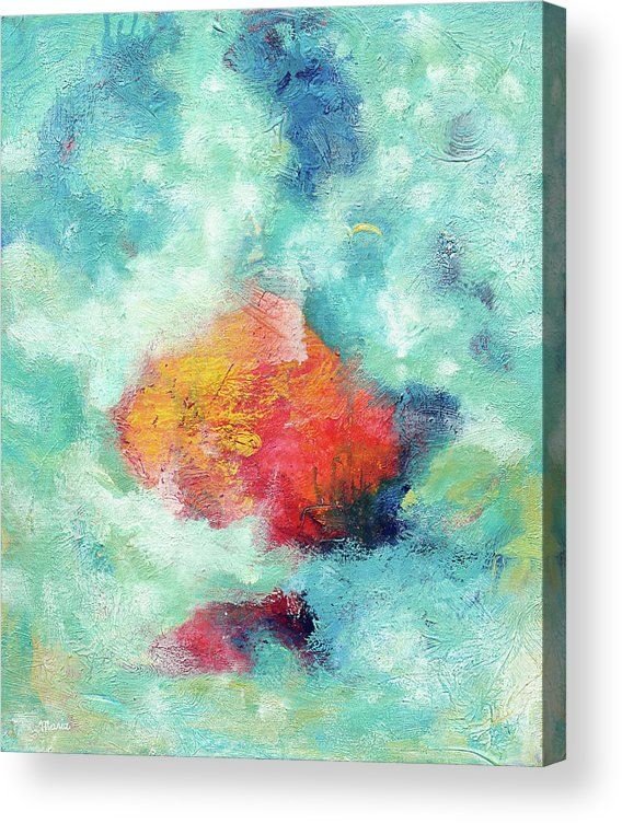 The Beginning Acrylic Print By Maria Meester In 2020 Original Abstract Art Beautiful Abstract Painting Original Abstract Painting