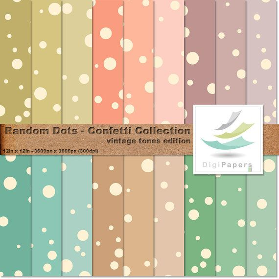 Random Dots - Confetti Collection by DigiPapers