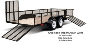 Forest River Steel Angle Iron Open Utility Landscape Trailer