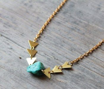 Turquoise and Arrow Necklace