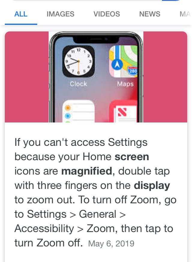 If Screen Is Magnified Double Tap With Three Fingers In The