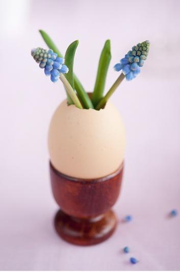 Pasqua fai-da-te: i gusci d'uovo diventano mini-vasetti per decorazioni floreali