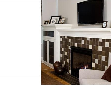 Compressed Pattern - Fireplace tile pattern
