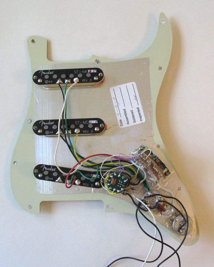 New Wiring Diagram Fender Strat 5 Way Switch  Diagram