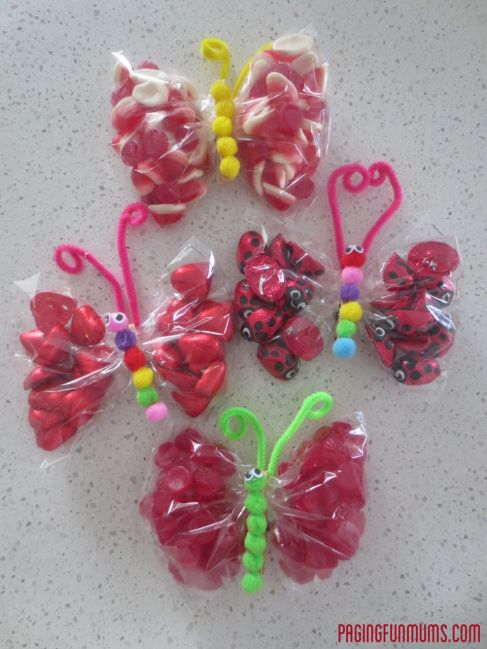 Butterfly Lolly Bags for Valentines day! – Jenni
