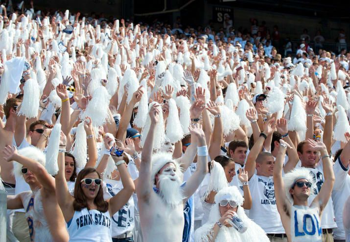 """Over 20,000 strong, and called """"The best student section in the country"""" by ESPN's Kirk Herbstreit, the Penn State Student Section is a force to be reckoned with. From kickoff until the clock hits 0:00 in the 4th (or overtime since Penn State has a knack for going into OT a lot lately) the student section is standing up and making noise the entire time. Hey Braxton Miller try to talk to your O-Line while we're screaming in your ear."""