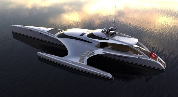 The 'Adastra', a yacht by John Shuttleworth, built by McConaghy Boats in Zhuhai, China, is truly worthy of it's status as an elegant aquatic luxury cruising vessel.