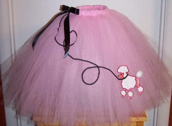 50s Poodle Skirt Tutu Wear With Leggings And Cardigan