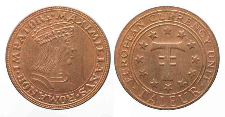 Österreich AUSTRIA Taleur European Currency Unit o.J.(1984) MAXIMILIAN I copper UNC # 69377   unz
