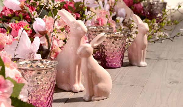 Easter bunnies. Candy collection