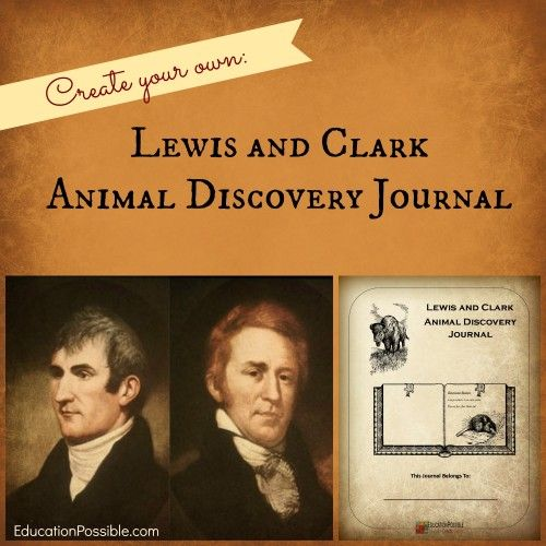 Lewis and Clark Animal Discovery Journal free download -EducationPossible.com