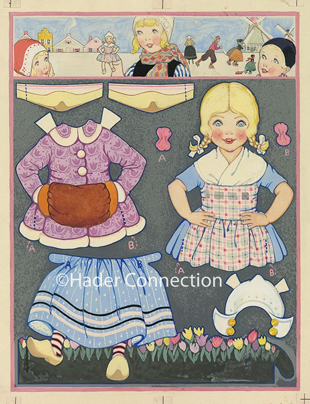 Hader paper doll_Good Housekeeping magazine, Jan. 1925