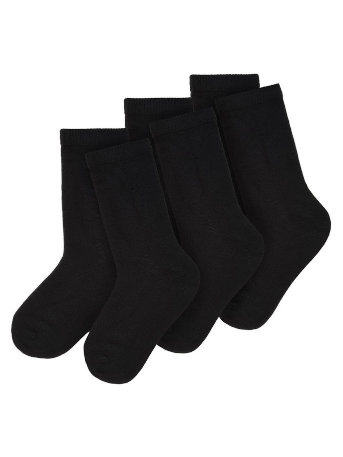 MINI NIT3-PACK WOLLEN SOKKEN, Black, large