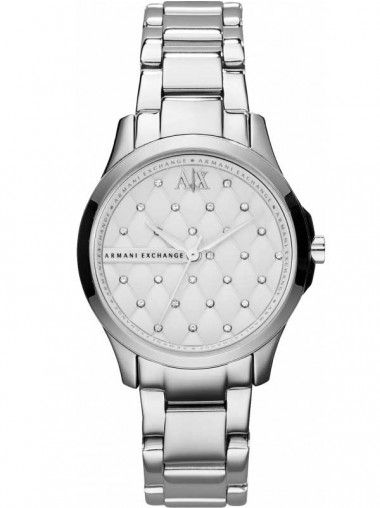 Armani Exchange Ladies Stainless Steel Quilted Stone Dial Bracelet Watch AX5208