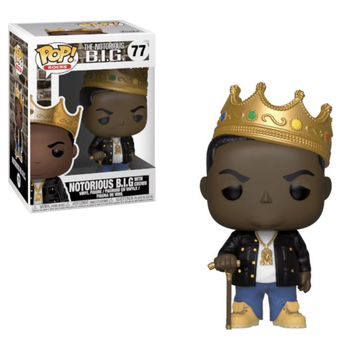 Funko Pop Vinyl Notorious B I G With Crown No 77 Unboxing Review Funko Rock Pops Juicy Rapper Notoriousbigfunko Vinyl Figures Pop Rock Music Funko Pop Vinyl