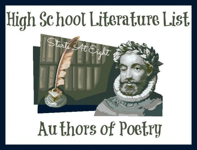 High School Literature List - This is an extensive but certainly not exhaustive list of reading selections for high school. This third section focuses on Poetry.