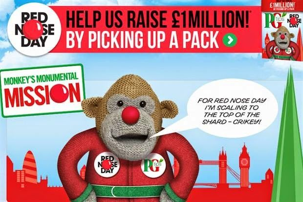 Given To Distracting Others: Win with PG Tips Comic Relief