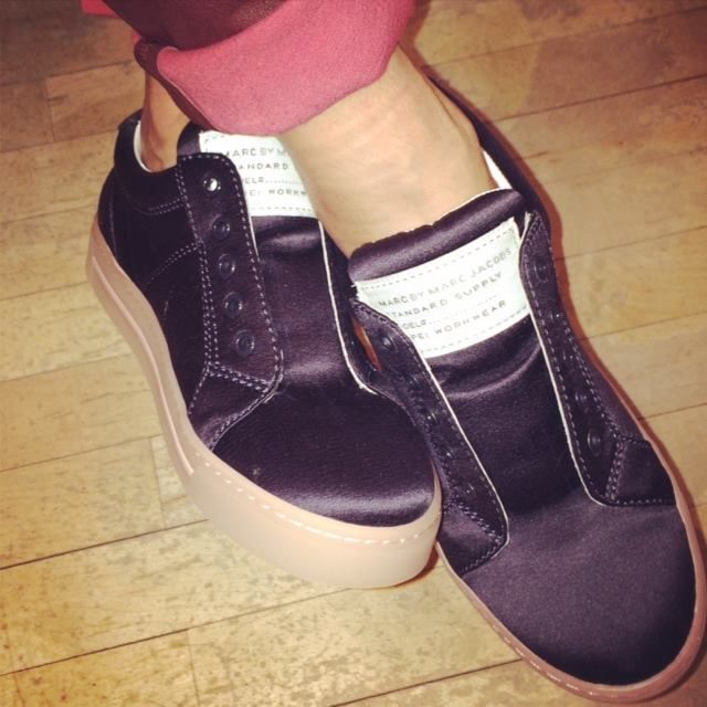 Weekend kicks from Marc by Marc Jacobs. (With leather pants or whatever...) #style #shoes #sneakers