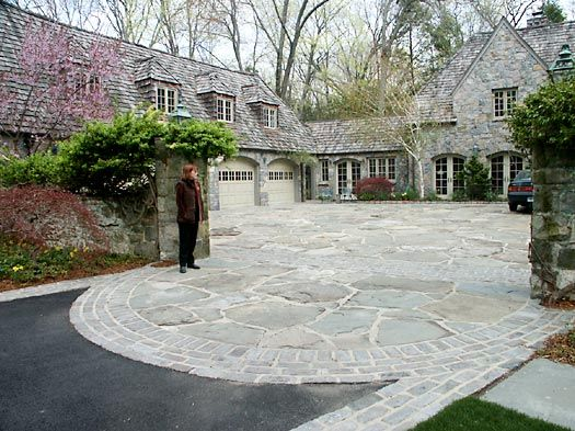 Wonderful flagstone driveway by conte conte llc for Courtyard driveway house plans