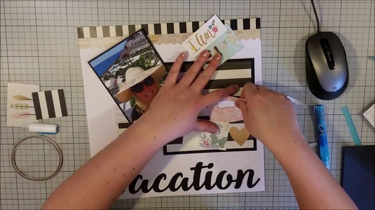 #365 I am on Vacation - Scrapbooking Process