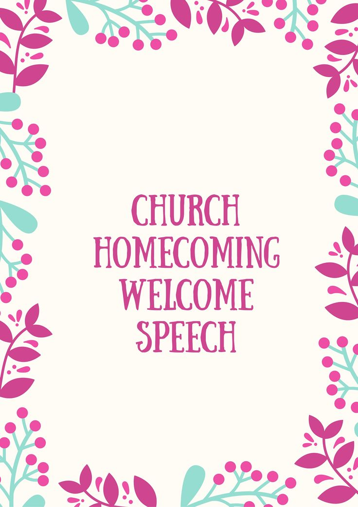 Looking for welcome speech for church anniversary program ...