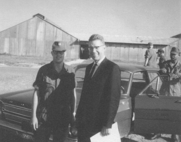 Elder Bruce R. McConkie with son Joseph McConkie outside of Saigon during the Vietnam War in fall 1968. {Photo Gallery: Latter-day Saints in the Military Through History}