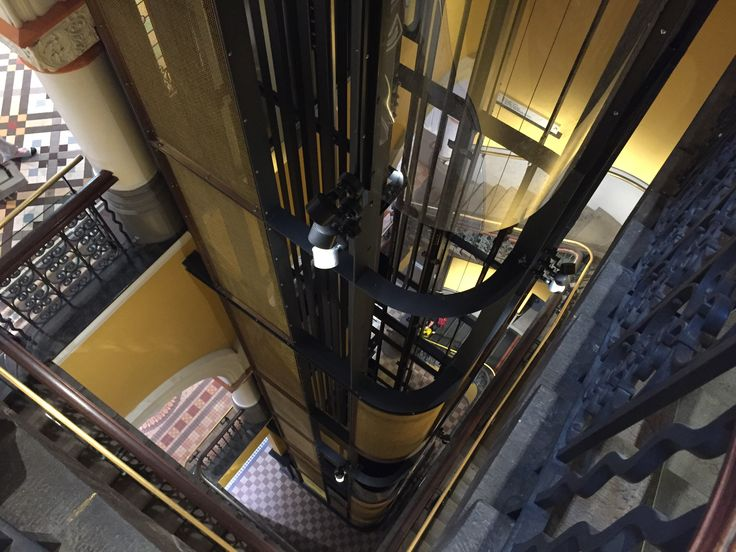 Arrow Metal brass wire mesh is giving shoppers an elevated experience at Sydney's QVB, forming the new lift cages – take a look at this prestigious project. #arrowmetal #brasswiremesh #wiremesh #brassmesh #lift #qvb #brassindesign #victoriandeco #shoppingcentredesign