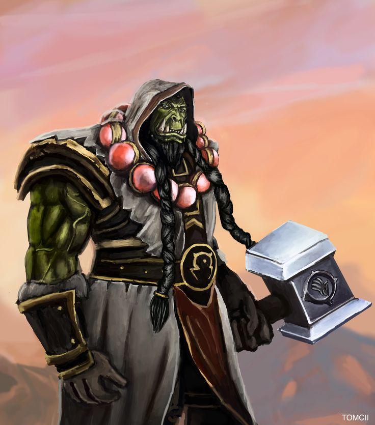 #thrall #warcraft #art #painting #drawing #illustration #orc #orcs #blizz #blizzard #warchief #hots #hero #heroes #orc #orcs #hammer #warrior #shaman #druid #green #arthas #lich #king #kichking #wow #warcraft #wod #diablo #starcraft #hellscream #grom #grommash #garrosh #geek #nerd #jessecox #jesse #cox #youtube #tb #totalbisquit #armor #weapon #fantasy #game #games #videogame #online #rpg #mmo #mmorpg #tomcii #art #fun #love